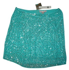 Romeo & Juliet Couture Elegant Chic Hand Beaded Sequinned 17-1/2 Inches Length Skirt
