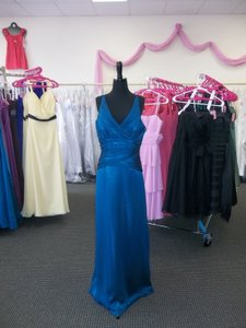 Belsoie Blue L1019 Formal Bridesmaid/Mob Dress Size 12 (L)