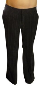 Candie's Pin Stripped Flat Front Trouser Pants Black