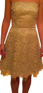 Morgan & Co Lace Strapless Prom Dress