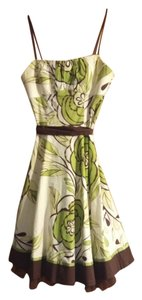 Ruby Rox short dress Green and White Floral on Tradesy