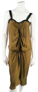Lanvin Ruched Draped Strap Camisole Dress