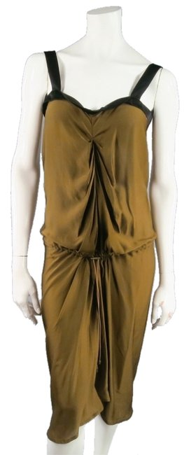 Lanvin Ruched Draped Waste Party Dress