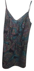 Tinley Road short dress Navy with multi color design on Tradesy