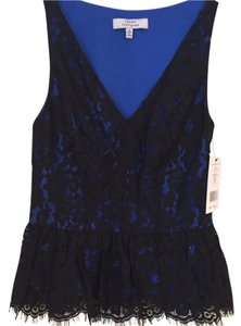 Robert Rodriguez Top Cobalt and Black