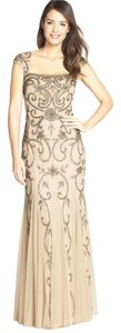 Adrianna Papell Beaded Trumpet Gown Dress