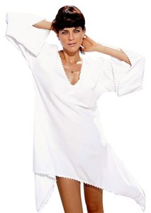Lirome short dress White Boho Cozy Crochet Summer on Tradesy