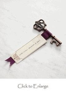 David's Bridal Bronze Antique Style Key Bottle Opener Favors In Gift Pac