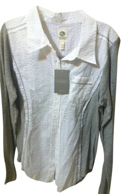Preload https://item1.tradesy.com/images/anthropologie-whitegray-blouse-size-12-l-516950-0-0.jpg?width=400&height=650