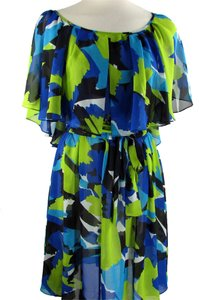 Vince Camuto short dress multi Sheer Color-blocking Summer on Tradesy