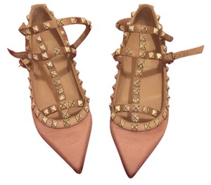 19c9a300aa6dc Valentino Studded Limited Edition Strappy Evening Date Night Spike rose  pink (light pink) Flats