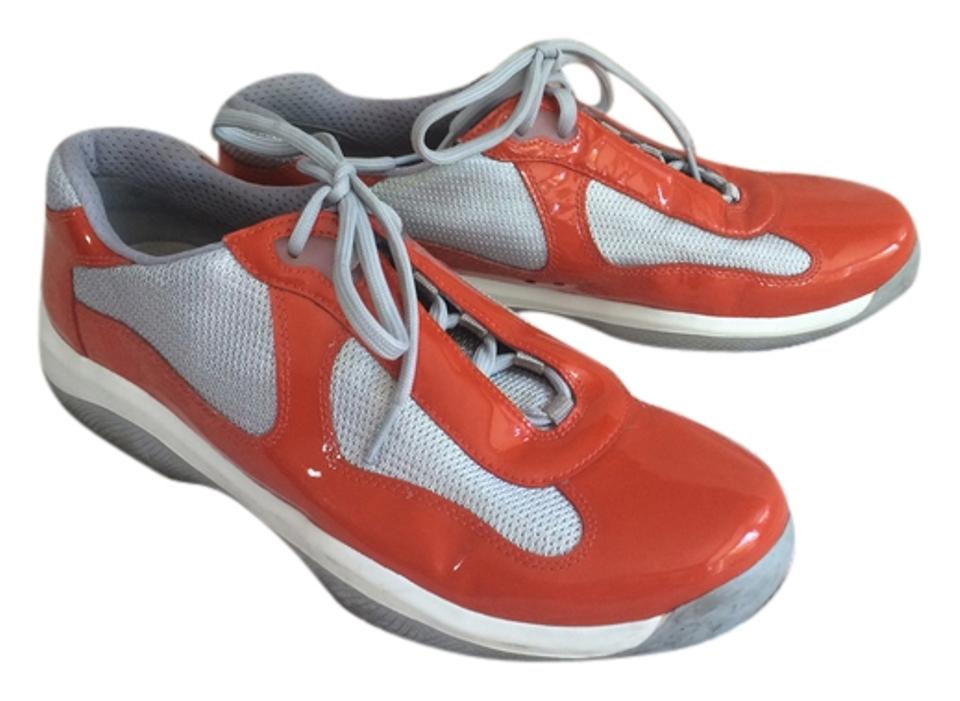 0c251d24 Orange and White Mens Sneakers