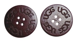 UGG Australia TWO (2) Chocolate UGG Replacement Buttons (30mm) for Adult Boots