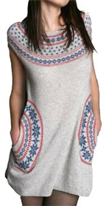 Tikirani short dress Gray Fairisle Wool Tunic on Tradesy