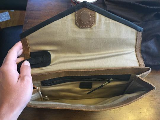 Madewell Black and Tan Clutch