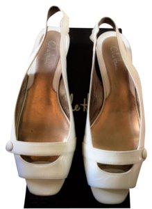 Cole Haan WHITE PATENT Flats