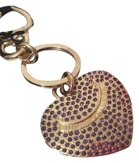 Juicy Couture Juicy Couture Pave Heart Charm Key Chain FOB Purse Charm