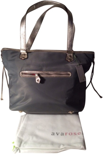 Item - Tote with Dustbag Grey Nylon Shoulder Bag