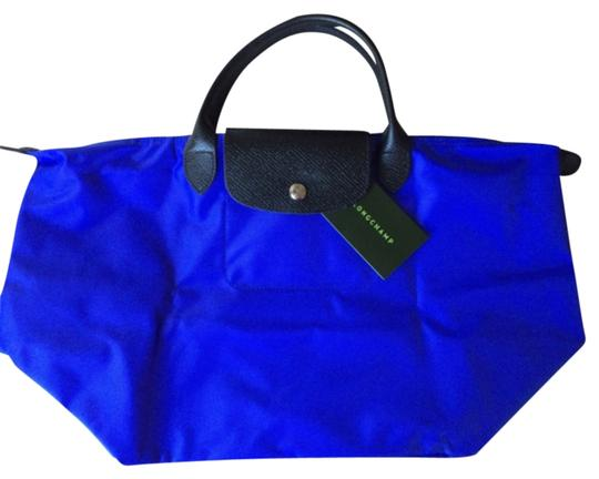 Longchamp Tote in Cobalt Blue/Black
