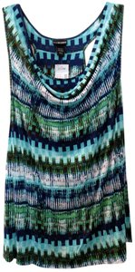 Lane Bryant Top MultiPrint Blues Teals Greens 22/24