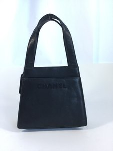 Chanel Leather France Tote in Black
