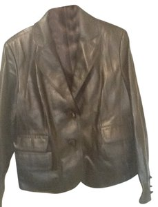 Pamela McCoy Leather Blazer Leather Jacket