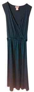 Motherhood Maternity Turquoise Formal Dress