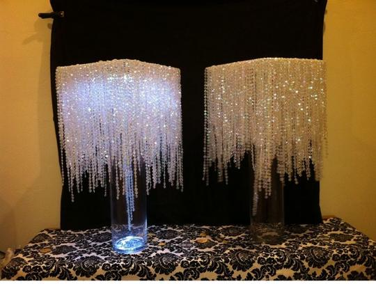 Clear Crystal Rain Waterfall Centerpiece