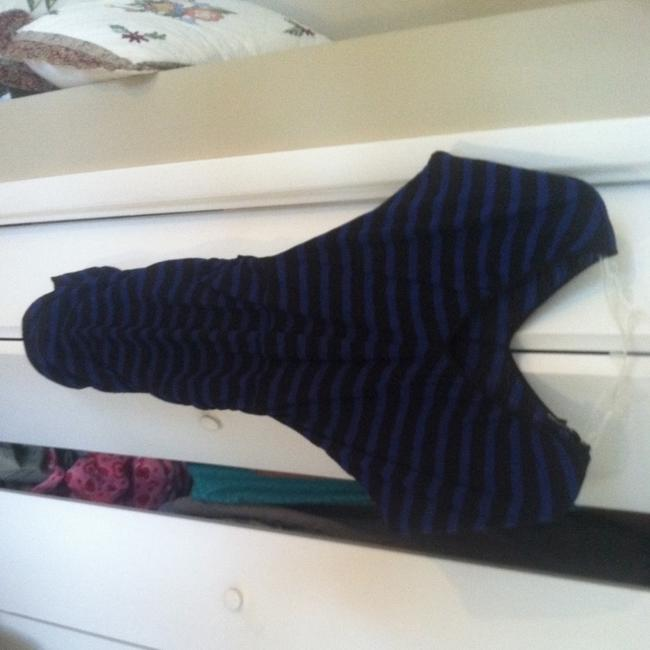 Express short dress Blue And Black Stripe on Tradesy