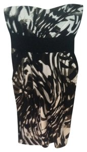 Trixxi short dress Black White Green Pattern on Tradesy