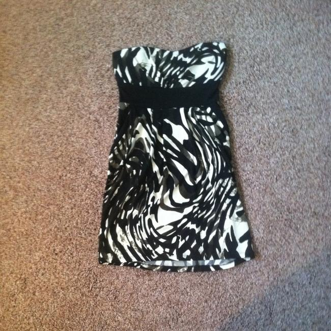 Trixxi short dress Black White Green Pattern Sleeveless on Tradesy