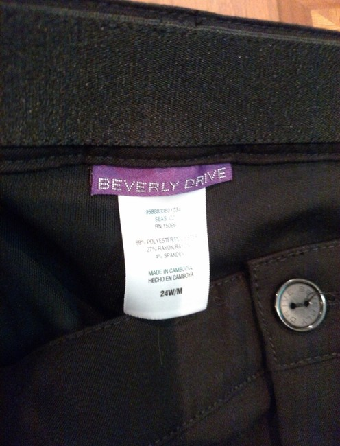 Beverly Drive Straight Pants Black Dress Pants Tummy Control 24W