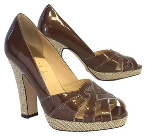 Cole Haan Patent Leather Platform Heels Pumps