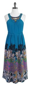 Moulinette Soeurs short dress Floral Print Silk Sleeveless Midi on Tradesy