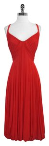 Donna Karan Sleeveless Midi Midi Dress