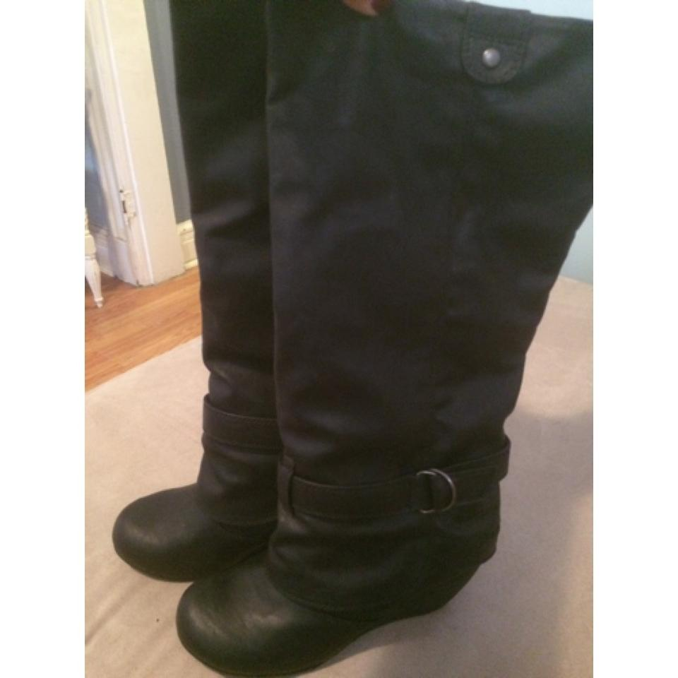 Blowfish Malibu Black Wedge Boots Booties Size US 8.5 Regular (M 30885699faa
