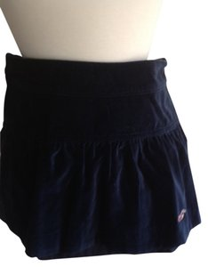 Hollister Velvet Velor Fashion Cute Mini Skirt Navy