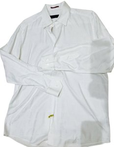 Bugatchi Button Down Shirt White pattern