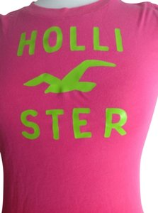Hollister T Shirt Pink and green