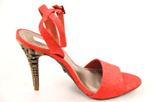 Rachel Roy Cork Metallic Metallic Hardware Bronze Coral Sandals
