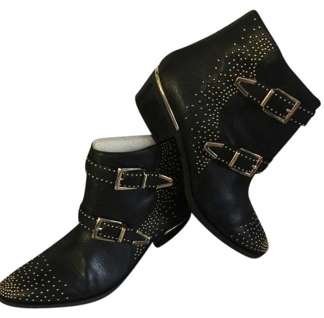 Item - Black with Gold Studs and Buckles Vc-tema Boots/Booties Size US 10 Regular (M, B)