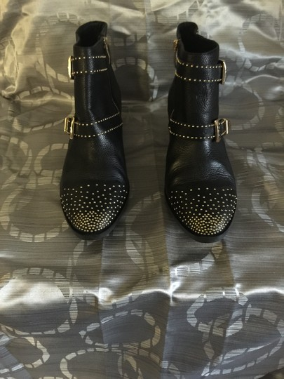 Vince Camuto Black with gold studs and buckles Boots