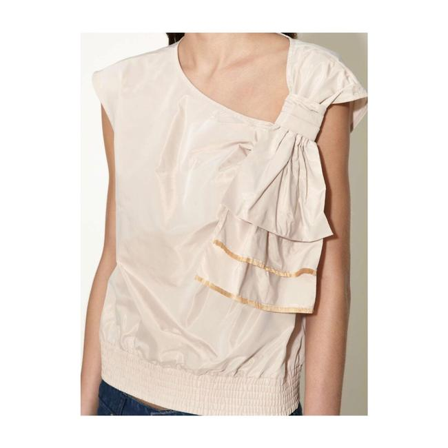 Marc by Marc Jacobs Top Beige with gold fringe