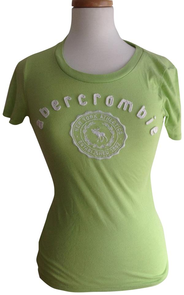 Abercrombie Fitch T Shirt Green And White