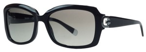 DKNY Donna Karan Black Rectangular Sunglasses