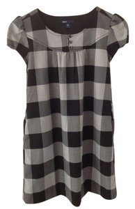 Gap short dress Grey and black on Tradesy