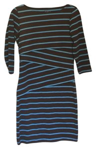 J.McLaughlin short dress Brown & blue on Tradesy