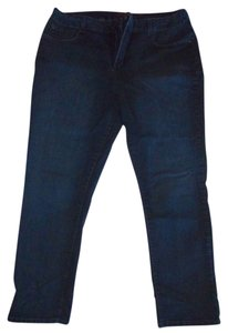 Not Your Daughter's Jeans Plus-size Tummy Support Slight Stretch Straight Leg Jeans-Dark Rinse
