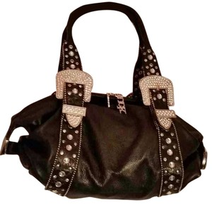 Charm and Luck Studded Leather Embellished Shoulder Bag