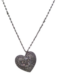 New Silver Sparkle Crooked Heart Fashion Necklace